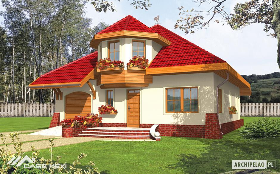 Casa cu mansarda rozyna g1 for Modele de case mici