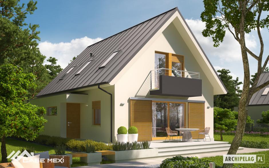 Proiecte de case moderne for Case cu mansarda mici
